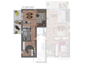 Grundriss Wohnung 101