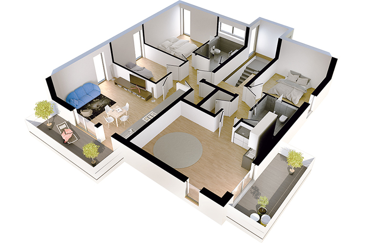Vom 1 Zimmer Apartment Bis Zur 4 Zimmer Wohnung U2022 Mit Balkon Oder Terrasse  Und PKW Stellplatz U2022 KfW 55 Standard Mit Fußbodenheizung